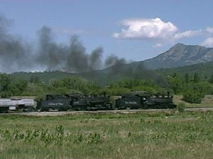 463 and 489 heads out of Chama June 2000
