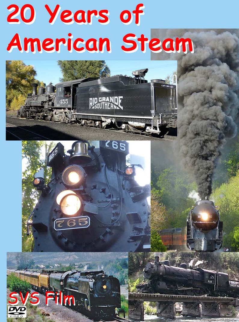 20 Years of American Steam DVD cover