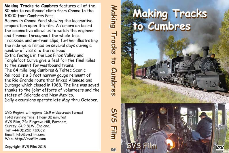 Making Tracks to Cumbres DVD cover